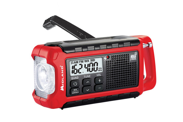 Midland ER210 E+READY® Compact Emergency Crank Weather Radio