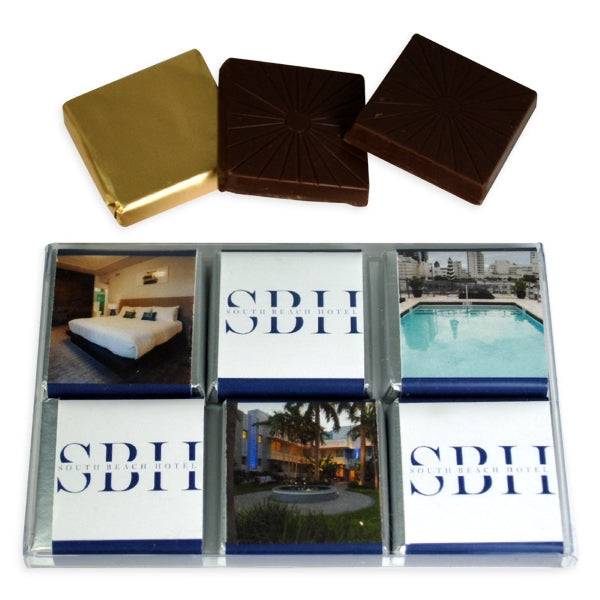 6 Pc Chocolate Box