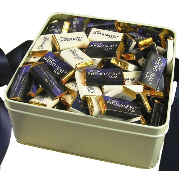 Chocolate Square Tin - 125 Piece Chocolate Mints
