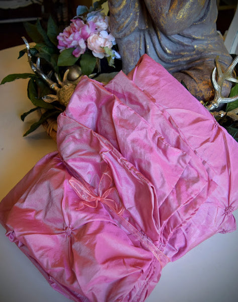 Pink Coverlet and Shams (Full/Queen)