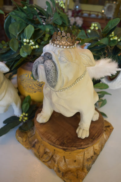 "SOLD - Bulldog ""Angel"" Statue"