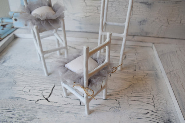 """Shabby Seating"" Set of 3 Chairs"