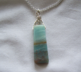 Natural Land and Sea Amazonite Gemstone Pendant