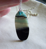 Landscape Amazonite and Turquoise Gemstone Pendant