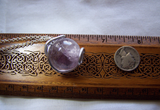 Silver Wire Wrapped Natural Lavender Amethyst Crystal Ball Pendant