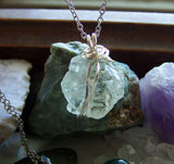 Natural Prasiolite Green Amethyst Gemstone Pendant Necklace