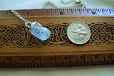 Natural Aquamarine Crystal Raw Gemstone Pendant
