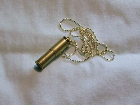 Brass Keepsake Capsule Bullet Jewelry Pendant Necklace