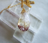 Harlequin Citrine Red Hematite Gemstone Pendant