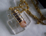 Citrine Gemstone Gold Wire Wrapped Bullet Pendant