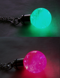 Color Changing LED Light Up Quartz Crystal Ball Pendant