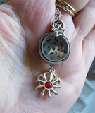 Silver Sun Wire Wrapped Compass Jewelry Pendant Necklace