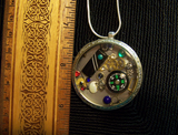 Compass View Steampunk Watch Works Pendant