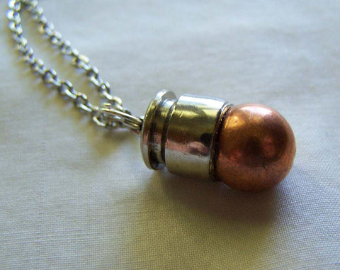 Recycled Copper Bullet Jewelry Pendant