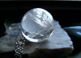 Crystal Ball Natural Quartz Jewelry Pendant Necklace