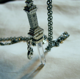 Natural Quartz Crystal Tower Dagger Pendant