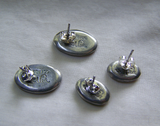 Vintage Mexico Alia Silver Earrings Moon and Stars 2 Pair