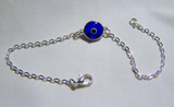 Cobalt Blue and Silver Evil Eye Bracelet