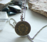 Vintage Moroccan Franc Star Coin Pendant