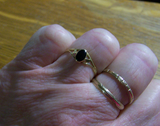 Vintage 18K Gold Black Onyx Ring Size 6.25
