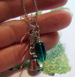 Candy Cane Jingle Bell Pendant