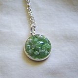 Green Demantoid Garnet Gemstone Crystal Pendant