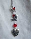 Hearts and Love Red and Silver Pendant