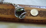 Gaia Stone Green Helenite Volcanic Glass Sphere Pendant