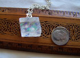Natural Optical Calcite Iridescent Stars and Moons Celestial Jewelry Pendant