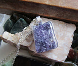 Lepidolite Natural Polished Gemstone Pendant Necklace