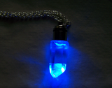 Light Up Blue LED Quartz Crystal  Pendant