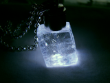 Light Up Optical Calcite Viking Sunstone LED Crystal Pendant
