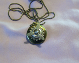 Vintage Brass Propeller Steampunk Locket  Necklace