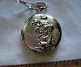 Mickey Mouse Collectible Pocket Watch with Original Tin