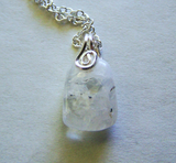 Natural Rainbow Moonstone Gemstone Crystal Pendant