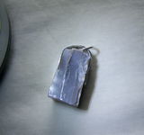 Natural Gray Moonstone Raw Gemstone Pendant