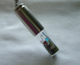 Moss Bottle Garden Gemstone Bullet Necklace