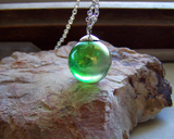 Mystic Green Aura Quartz Crystal Ball Pendant