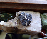 Mystic Merlinite Indigo Gabbro Natural Raw Natural Stone Pendant Necklace