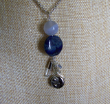 Night and Day Blue Celestial Sun and Moon Pendant