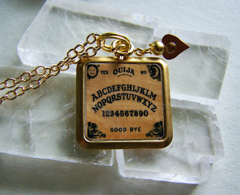 Mystical Ouija Board with Planchette Necklace