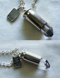 Natural Quartz Crystal Peace Bullet Jewelry Necklace