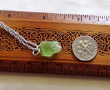 Green Peridot Natural Gemstone Crystal Point Necklace Pendant