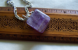 Purple Fluorite Polished Cube Pendant