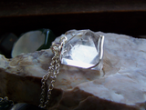 Natural Quartz Crystal Pyramid Wire Wrapped Pendant