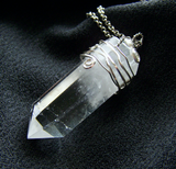 Large Natural Quartz Crystal Point Necklace Pendant