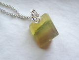Natural Rainbow Banded Fluorite Gemstone Pendant
