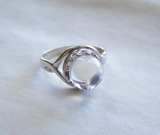Crystal Ball Natural Quartz Sterling Silver Ring
