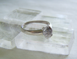 Herkimer Diamond Natural Crystal Sterling Silver Ring Size 6.5