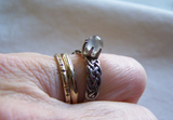 Sterling Silver Celtic Knot Moonstone Sphere Ring